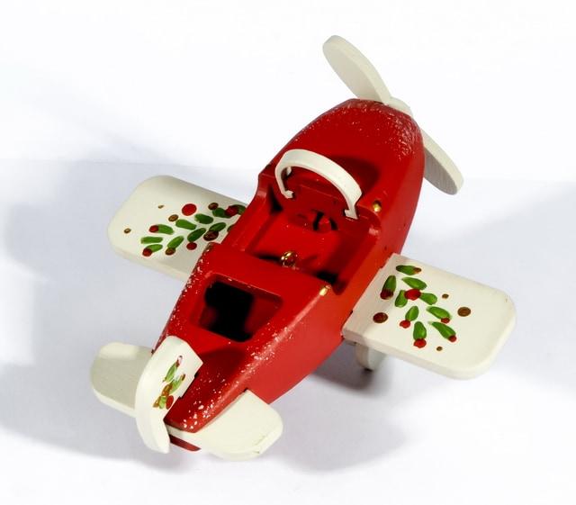 Елочная игрушка - Самолет Моноплан 3020