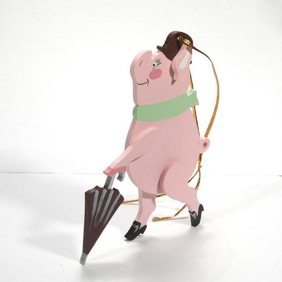 Символ 2019 года - Свин с зонтом 490-1