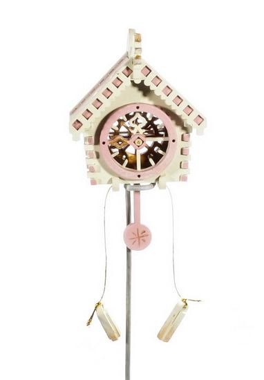 Елочная игрушка, сувенир - Часы с маятником 1013 Pink Roof