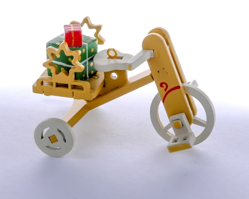 Елочная игрушка - Детский велосипед с багажником 290-3 Star