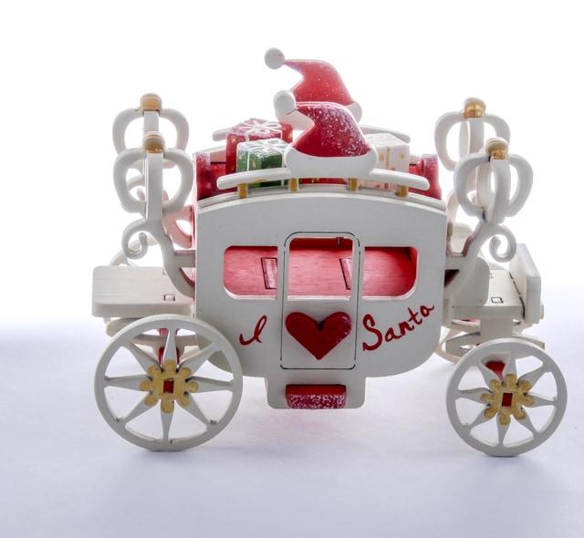 Елочная игрушка, сувенир - Карета крытая 3020 Heart Santa