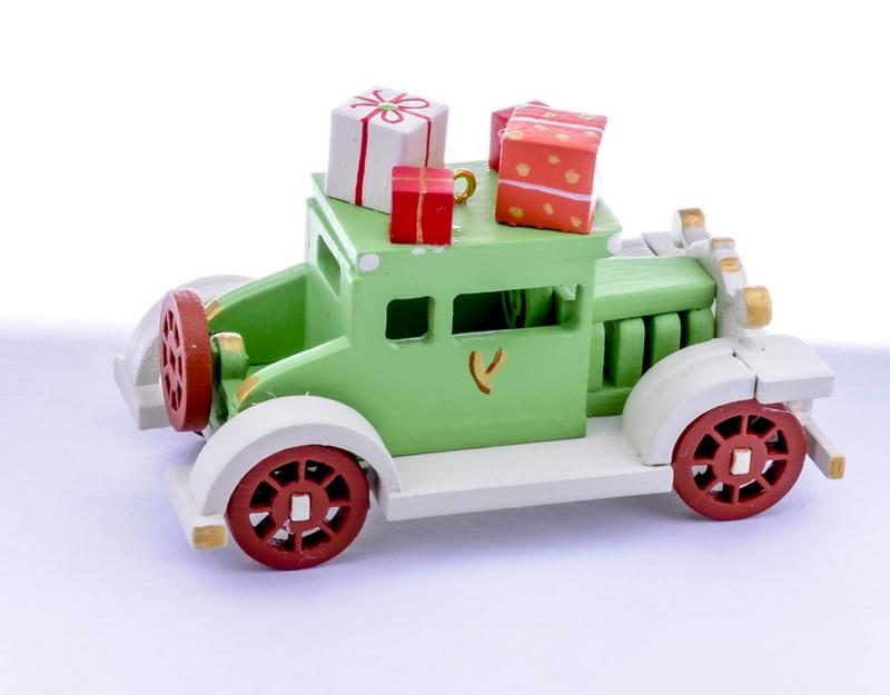 Елочная игрушка, сувенир - Машинка легковая 230-2