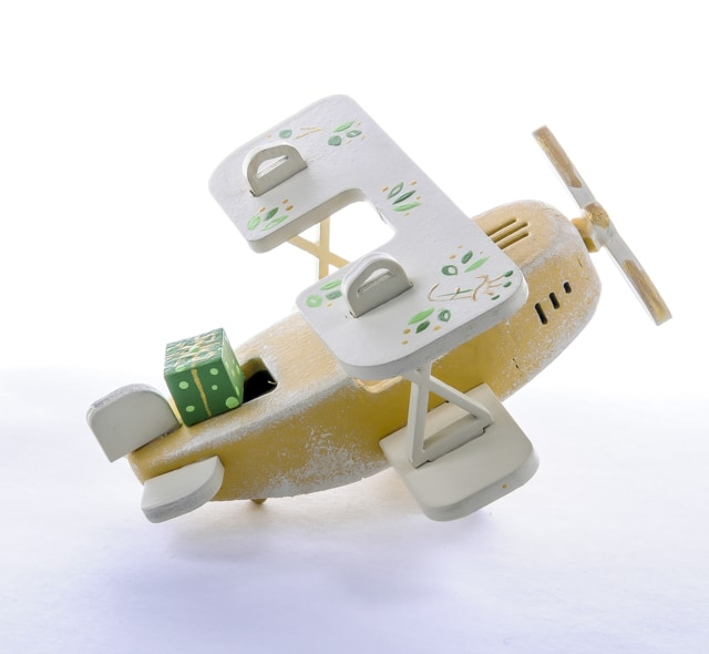 Елочная игрушка, сувенир - Самолет Биплан 290-3 Classic