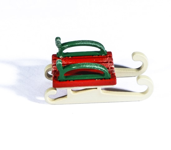 Елочная игрушка - Санки малые 3020 Classic