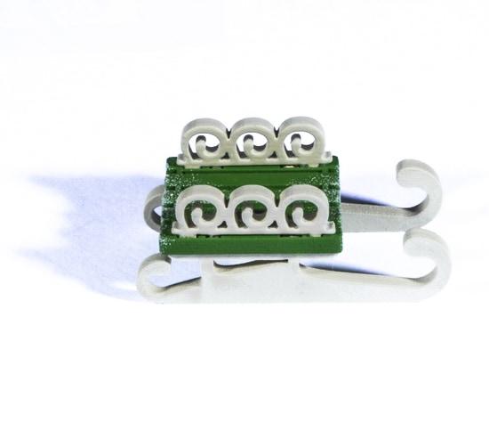 Елочная игрушка - Санки малые 6017 Twirl