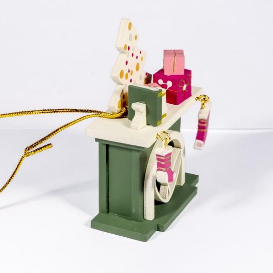 Елочная игрушка - Камин 6011 K Tree