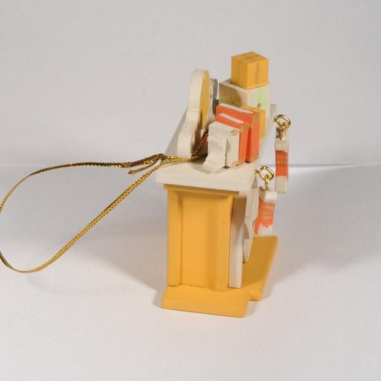 Елочная игрушка - Камин 370-1 K
