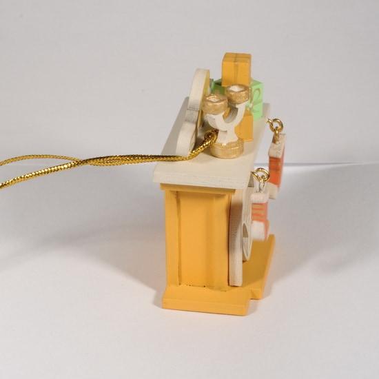 Елочная игрушка - Камин 370-1 S