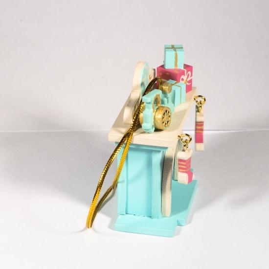 Елочная игрушка - Камин 56GG64-25804 P