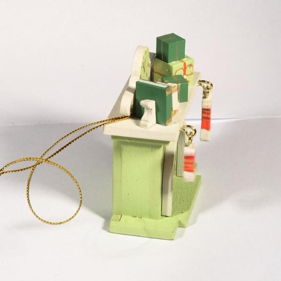Елочная игрушка - Камин 90YY61/504 K