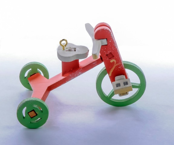 Елочная игрушка - Детский велосипед 410-3 Classic Apple Wheels