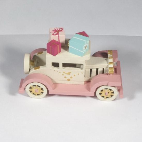 Елочная игрушка, сувенир - Машинка легковая 1013 Pink chassis