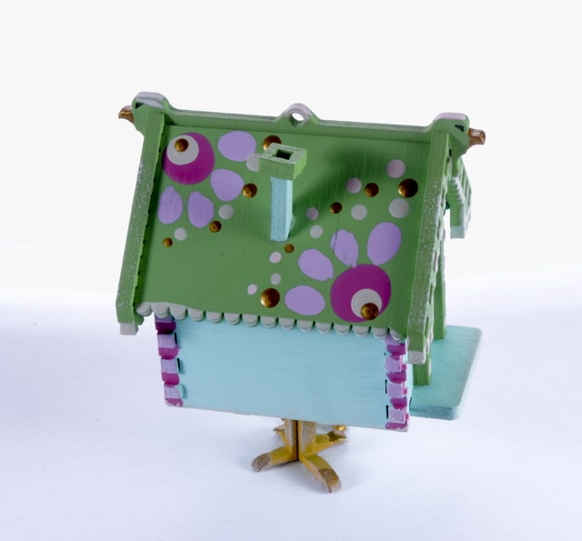 Елочная игрушка, сувенир - Избушка на курьих ножках 56GG64_25804