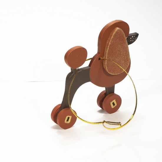 Елочная игрушка - Пудель пряничный 360-5