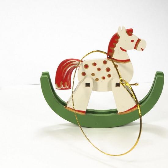 Елочная игрушка - Лошадка на качалке 1013