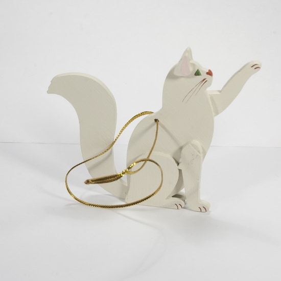 Елочная игрушка - Кошка сидящая 1013