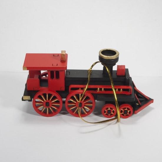 Елочная игрушка, сувенир - Ретро паровоз 9005