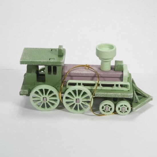 Елочная игрушка, сувенир - Ретро паровоз 6011