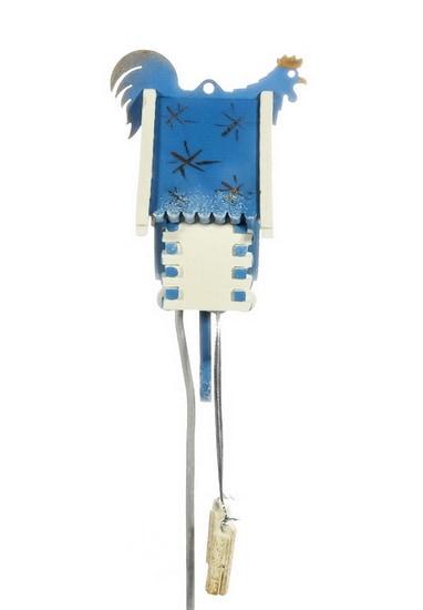 Елочная игрушка, сувенир - Часы с маятником 1013 Blue Roof