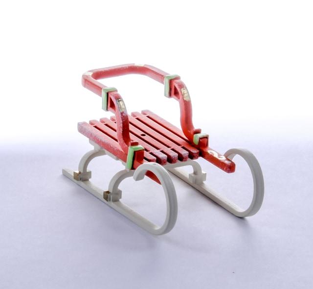 Елочная игрушка - Санки Большие 410-3