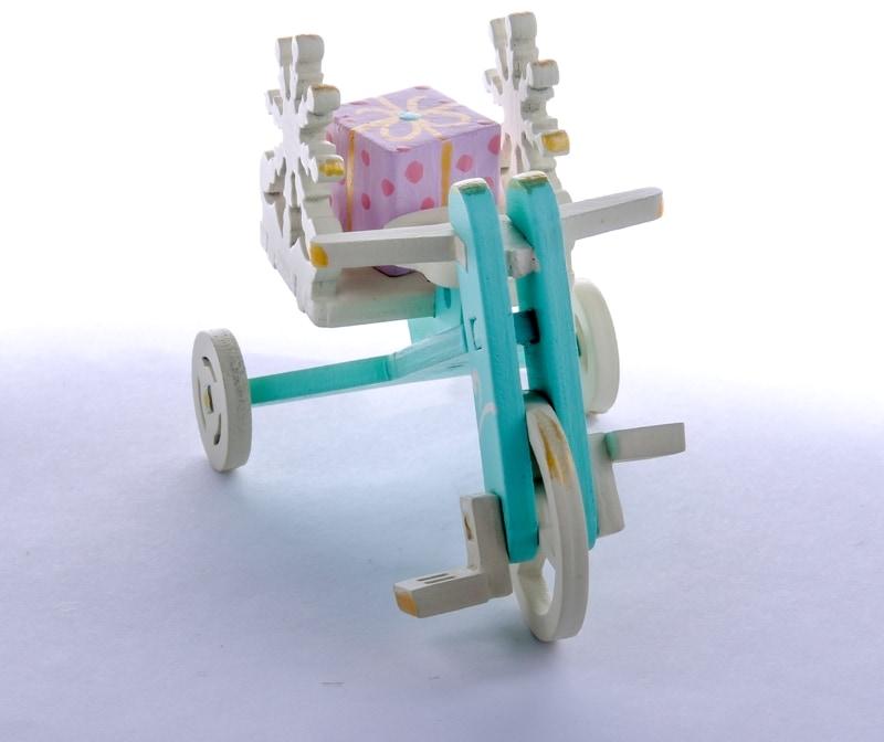 Елочная игрушка - Детский велосипед с багажником 56GG64-25804 SnowFlake
