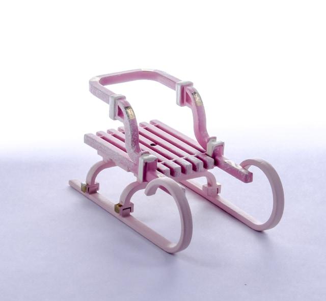 Елочная игрушка - Санки Большие 3015