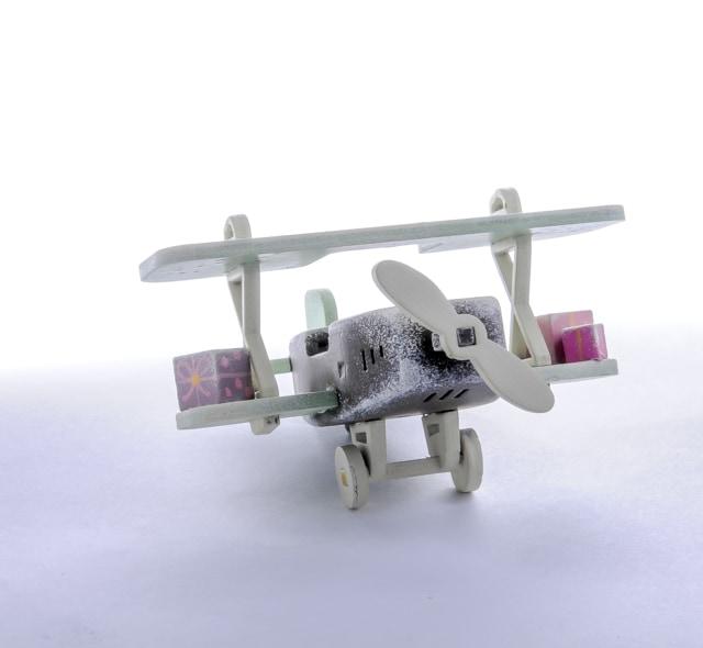 Елочная игрушка, сувенир - Самолет Биплан 8028 Classic