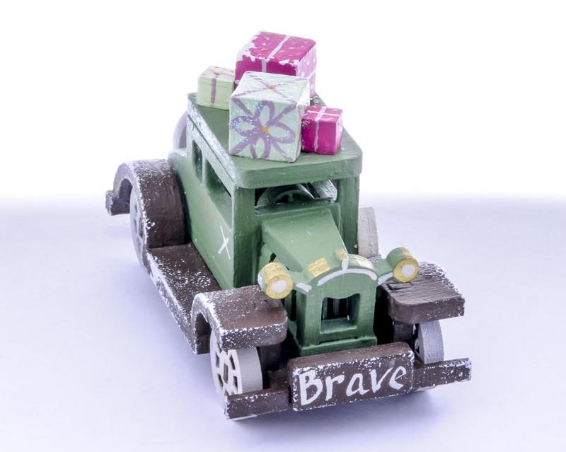 Елочная игрушка, сувенир - Машинка легковая 6011