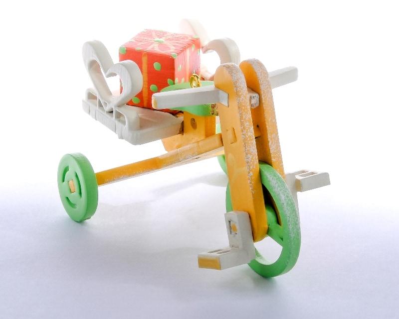 Елочная игрушка - Детский велосипед с багажником 370-1 Heart