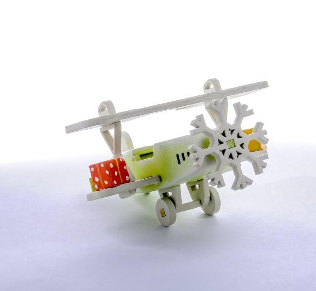 Елочная игрушка, сувенир - Самолет Биплан 90YY61-504
