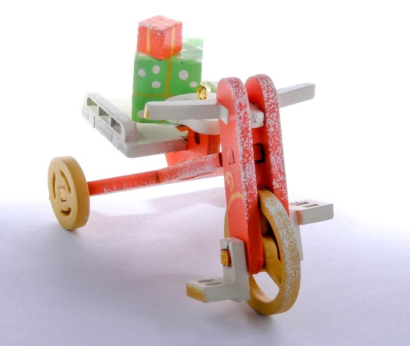 Елочная игрушка - Детский велосипед с багажником 410-3 Classic Trunk