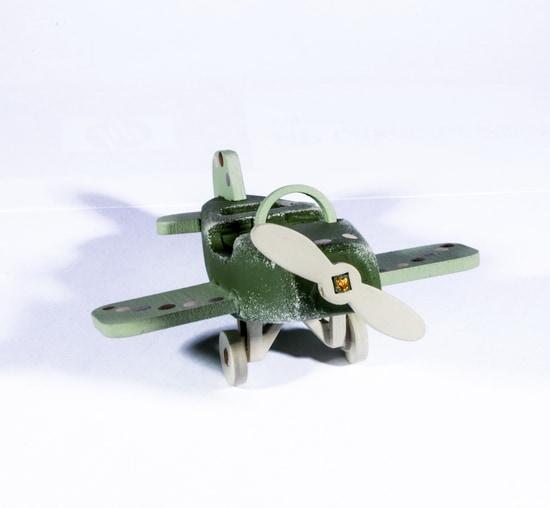 Елочная игрушка - Самолет Моноплан 6011