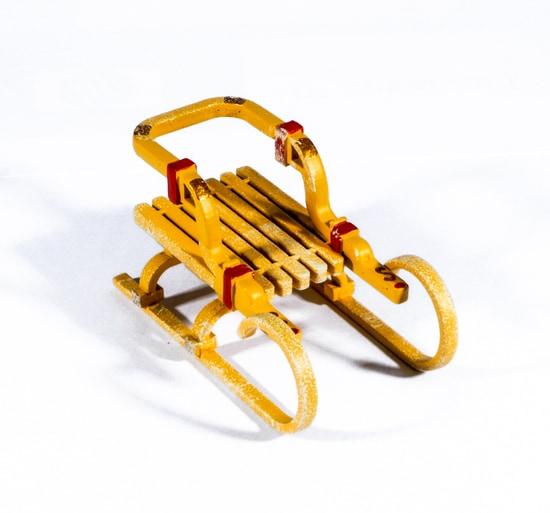 Елочная игрушка - Санки Большие 370-1
