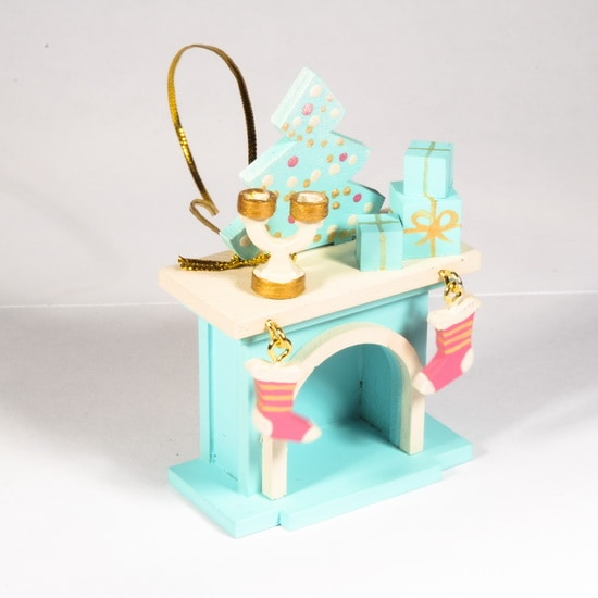 Елочная игрушка - Камин 56GG64-25804 S Tree
