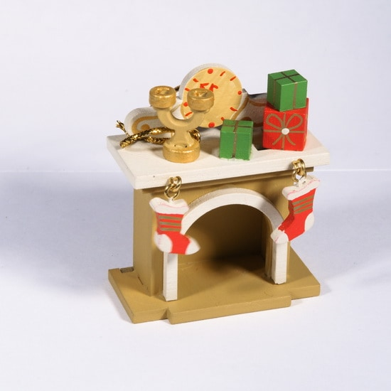 Елочная игрушка - Камин 290-3 S