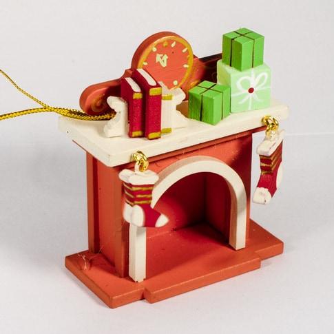 Елочная игрушка - Камин 410-3 K