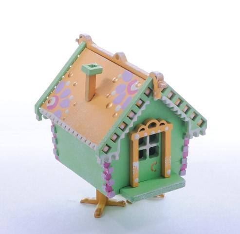 Елочная игрушка, сувенир - Избушка на курьих ножках 230-2