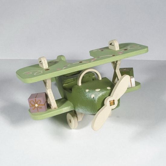 Елочная игрушка, сувенир - Самолет Биплан 6011 Classic