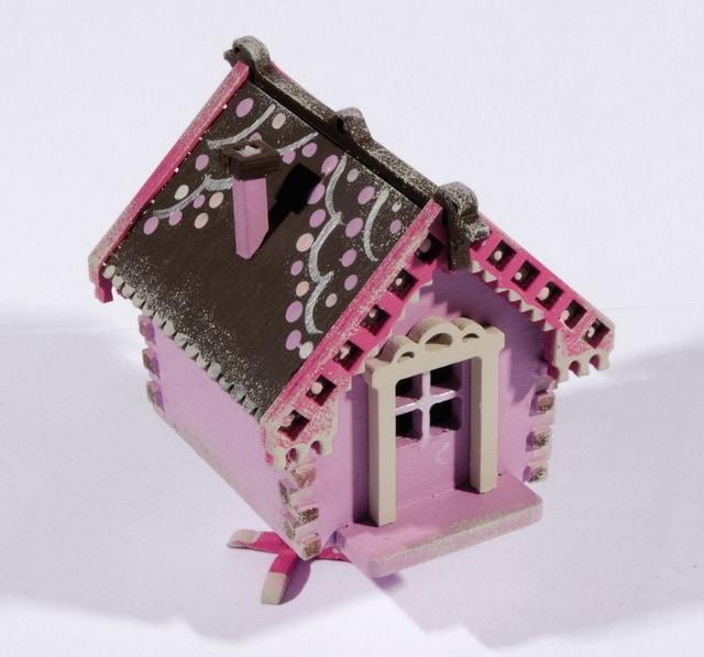 Елочная игрушка, сувенир - Избушка на курьих ножках 540-2