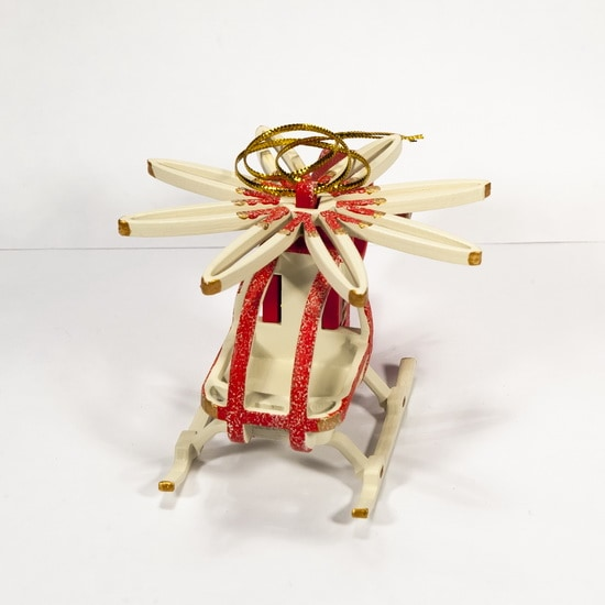 Елочная игрушка - Вертолет малый 3020 White Cabin