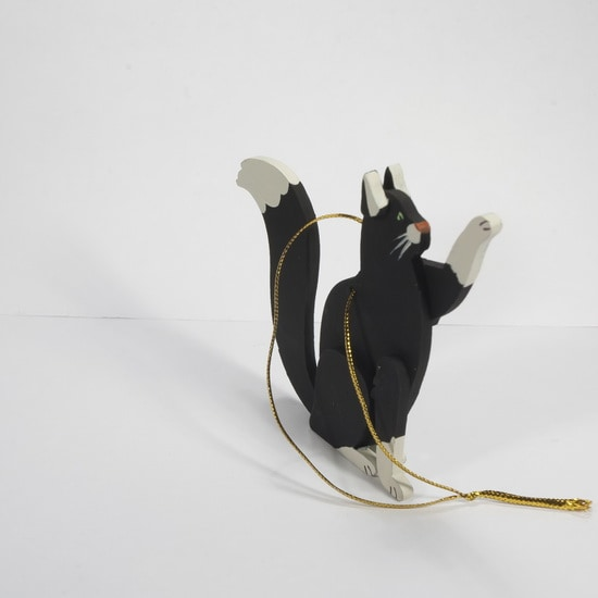 Елочная игрушка - Кошка сидящая 9005