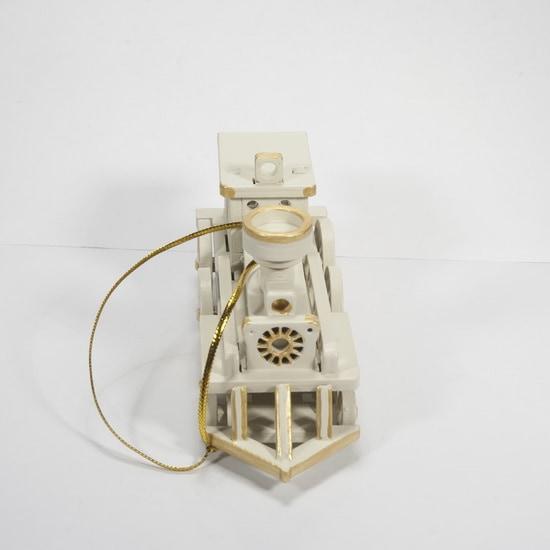 Елочная игрушка, сувенир - Ретро паровоз 1013