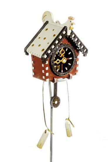 Елочная игрушка, сувенир - Часы с маятником 360-5