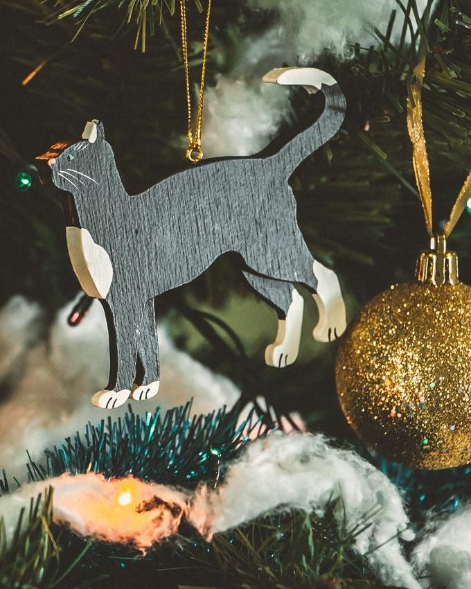 Новогодние украшения - Кошка 9005