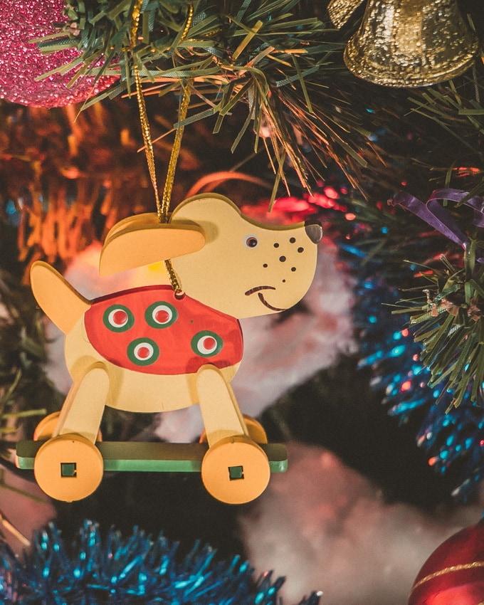 Елочная игрушка - Дворняжка желтая 270-1