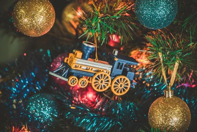 Елочная игрушка, сувенир - Ретро паровоз 640-6