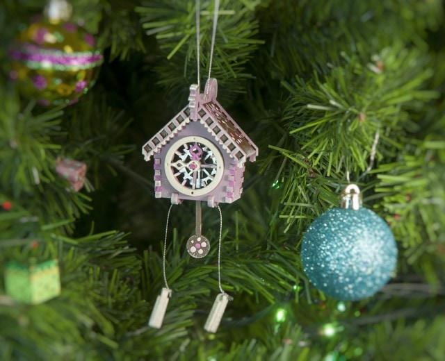 Новогоднее украшение для елки - Часы с маятником 4009