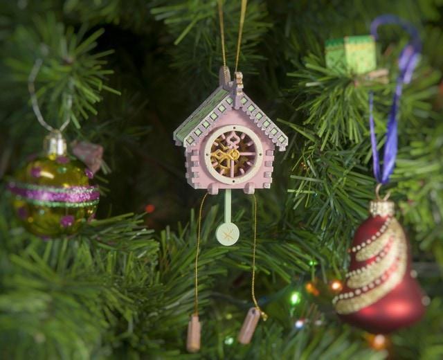 Новогоднее украшение для елки - Часы с маятником 3015