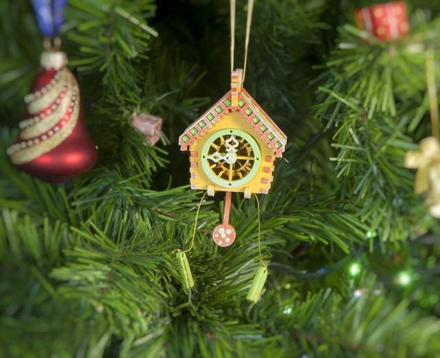 Новогоднее украшение для елки - Часы с маятником 370-1