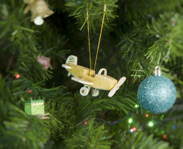 Елочная игрушка - Самолет Моноплан 290-3